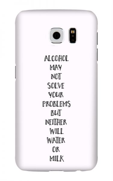 Samsung Galaxy S6 3D-Case (glossy) Gibilicious Design Alcohol may not solve problems von swook! - switch your look