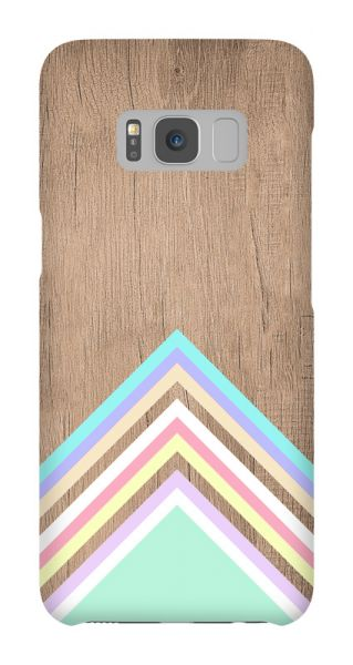 Samsung Galaxy S8  3D-Case (glossy) Gibilicious Design Baby blue pattern on wood von swook! - switch your look