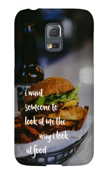 Samsung Galaxy S5 Mini 3D-Case (glossy) Gibilicious Design The way I look at food von swook! - switch your look