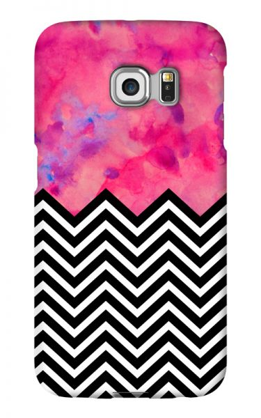 Samsung Galaxy S6 Edge 3D-Case (glossy) black and white and PINK von swook! - switch your look
